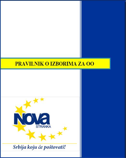 Dokument - Pravilnik o izborima za OO