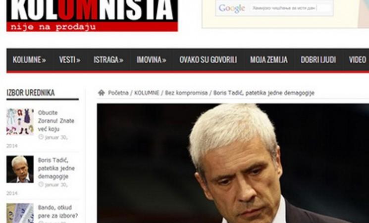 Boris Tadić, patetika jedne demagogije