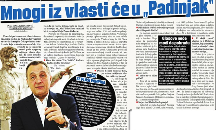 """Živković za Alo: Mnogi iz vlasti će u """"Padinjak"""""""