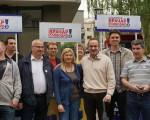 Pavićević na Vračaru: Glasajte za slobodu, kulturu i obrazovanje!