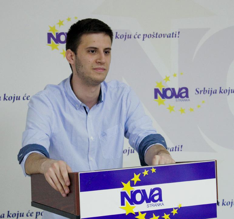 Uroš Eleković, predsednik Foruma mladih Nove stranke