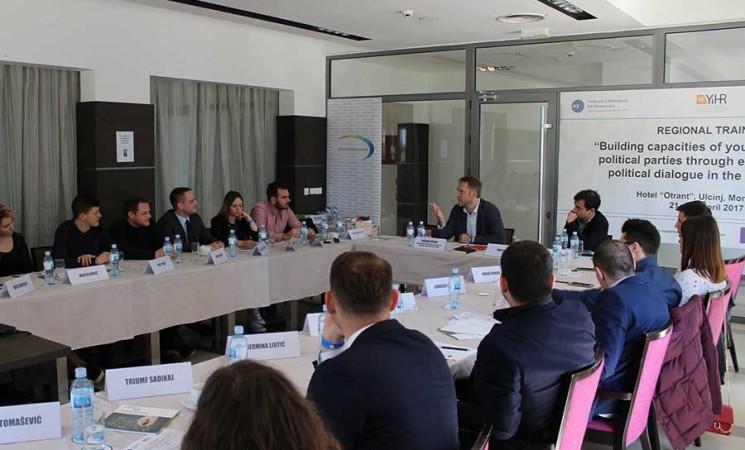 Regionalni trening Izgradnja kapaciteta omladina političkih partija