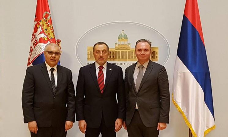 Direktori IFIMES-a u poseti Živkoviću u Narodnoj skupštini