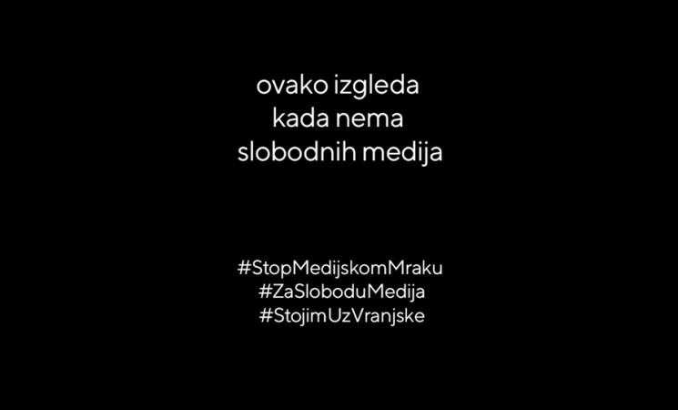 """Podrška inicijativi """"STOP medijskom mraku"""""""