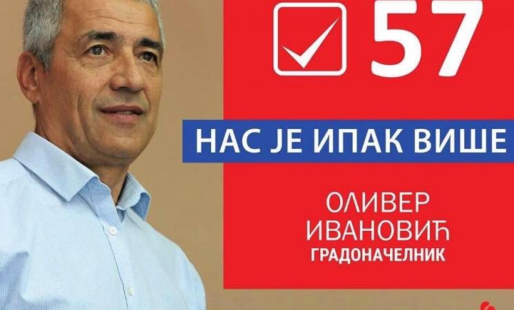 Podrška Oliveru Ivanoviću na lokalnim izborima u Kosovskoj Mitrovici