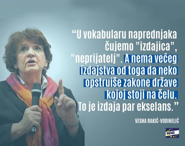 Vesna Rakić Vodinelić za Vreme: Vlast ovde niko ne kontroliše