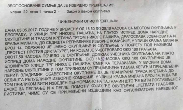 Neka policija podnese prijavu protiv Vesne Rakić-Vodinelić