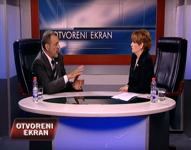 Živković u emisiji Otvoreni ekran na TV Kanal 9