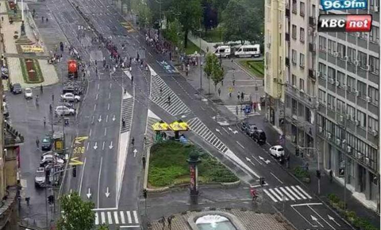 Blokada Trga Nikole Pašića odgovor gradskih čelnika na protest zbog cene goriva
