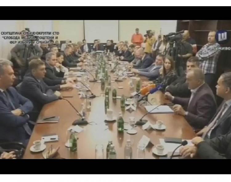 Živković na Okruglom stolu opozicije: Ne bojkot izbora, nego veći pritisak!