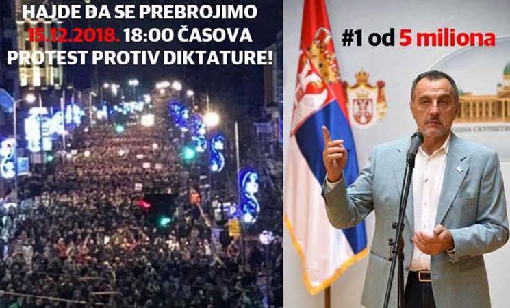 Zajedno u protestnu šetnju Beogradom! Da se prebrojimo, do pobede!