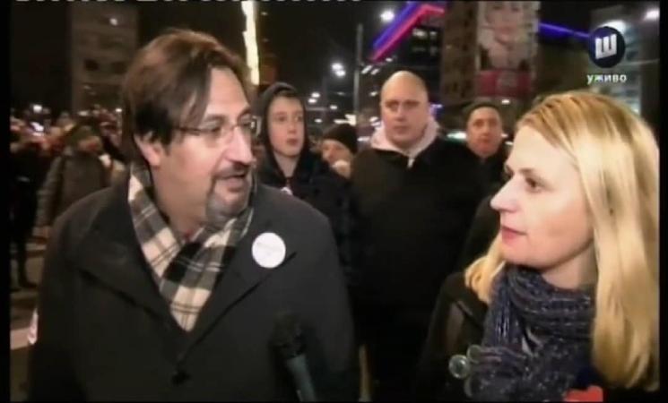 Movsesijan za TV Šabac: Više se ljudi na protestu ne boje, sada se boji vlast