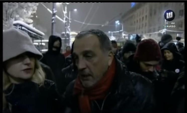 Živković na protestu u Beogradu: Građani pokazali šta misle o autokrati Vučiću!