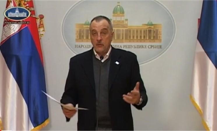 Živković: U Narodnoj skupštini na delu šibicarska politika neprimerena toj instituciji