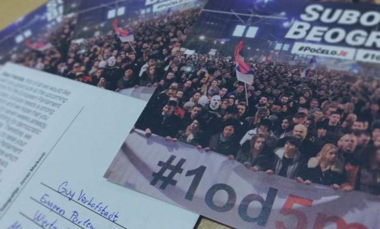 Forum mladih poslao razglednice sa protesta evropskim parlamentarcima