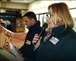 Potpredsednica NOVE Petrović na protestu u Jagodini: Dok je mraka biće i svanuća!