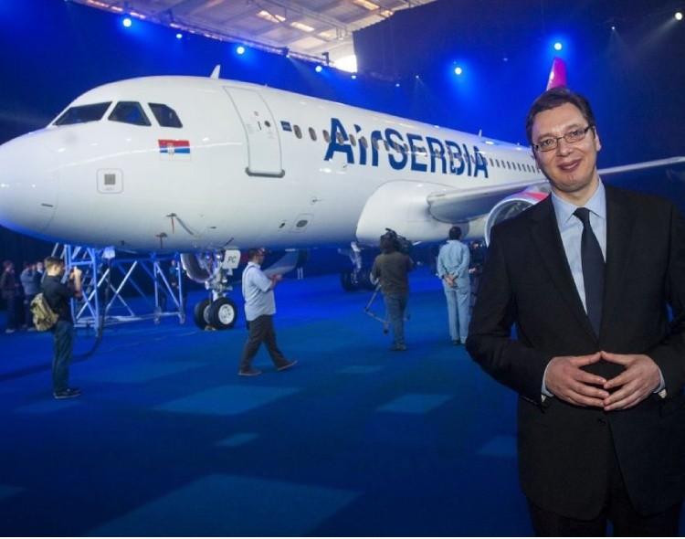 Vrtoglavi pad profita Er Srbije - Napredno propada sve za šta se Vučić uhvati, ostaju samo laži