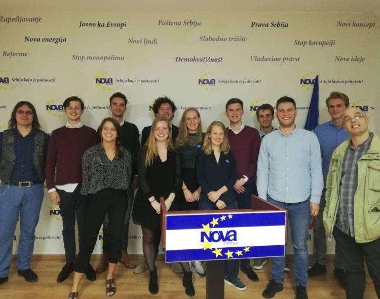 Omladina holandske partije D66 u poseti Forumu mladih Nove stranke