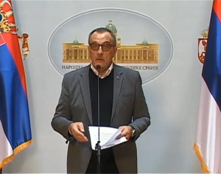 Živković poslao Vladi predlog za formiranje Komisije za kontrolu sprovođenja vanrednog stanja
