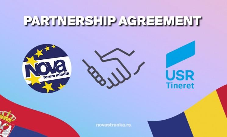 Forum mladih Nove i USR Tineret potpisali sporazum o saradnji